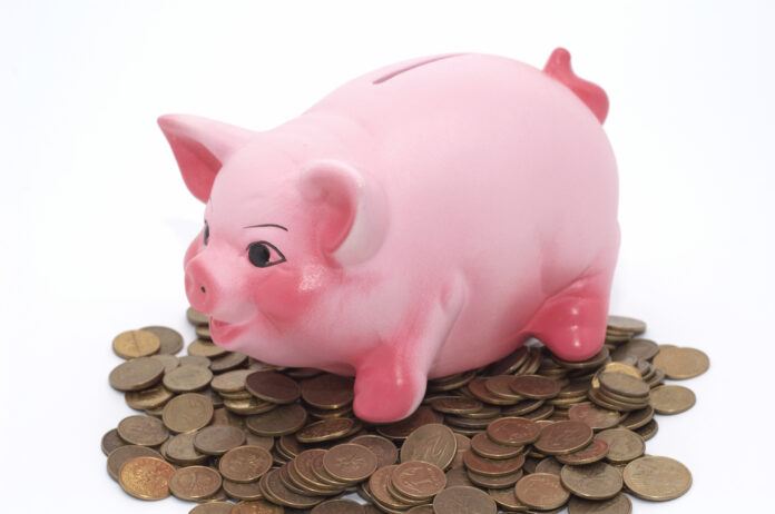 piggy bank, saving money, pink pig