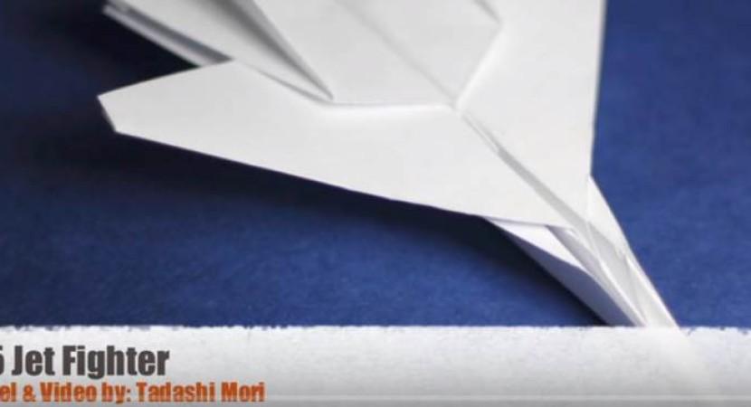 f15 eagle jet fighter paper plane