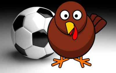 Turkeys Playing Soccer