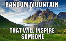 random mountain