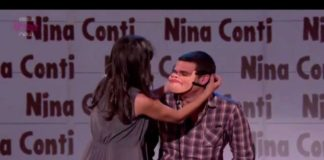 nina conti, monkey pickles, funny people, ventriloquist