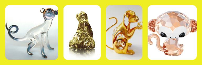 crystal monkey figurines, swarovski crystal figurines, swarovski zodiac crystal figurines