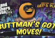 Annoying Orange Let's Play, Buttman, Grand Theft Auto V, rocket launcher