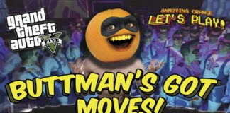 Annoying Orange Let's Play, Buttman, Grand Theft Auto V, rocket launcher