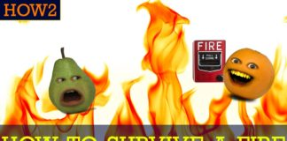 Annoying Orange, funny videos, funny people, cool people, how to survive a fire, fire safety