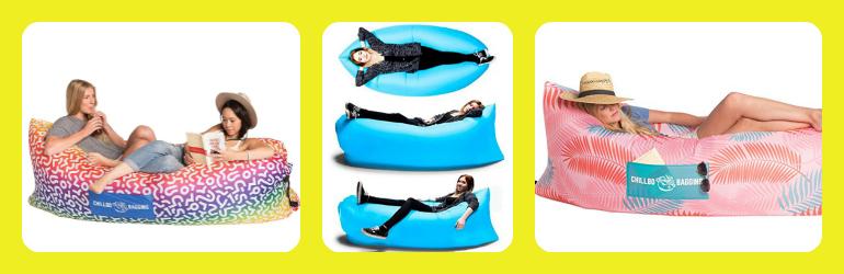 banana sleeping bags, banana loungers, inflatable banana sleeping bag, banana lounger