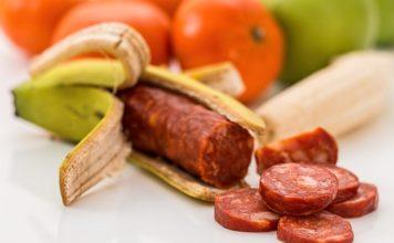 banana, meat, sausage