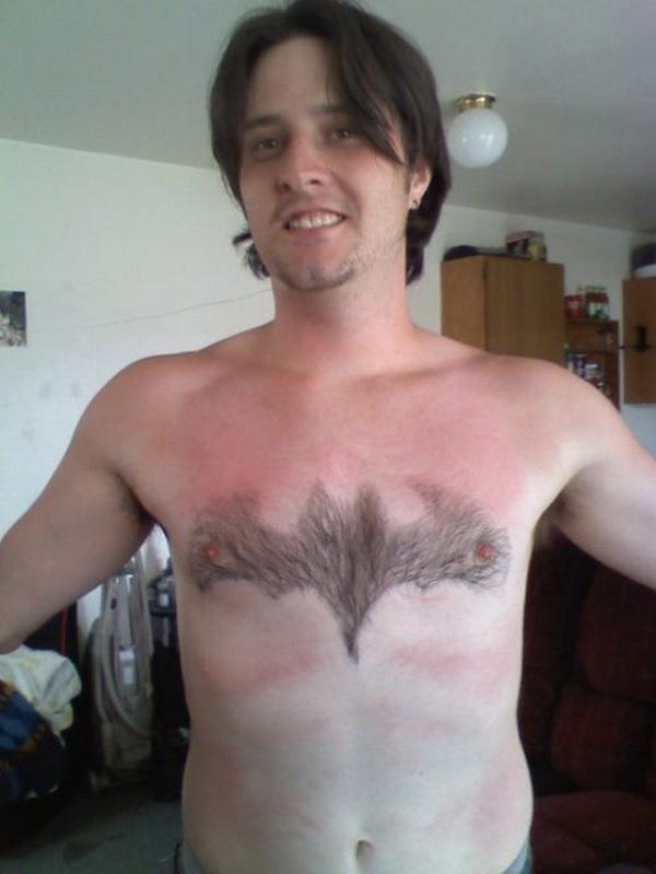 funny pic, body hair art, waxing, waxing funny
