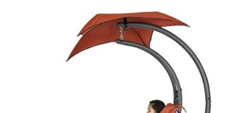 Hanging Chaise Lounger Chair Arc Stand Air Porch Swing Hammock Chair Canopy