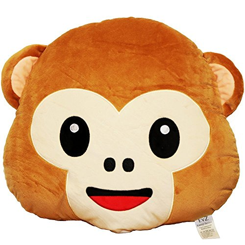 Pickled Nickel, Emoji Pillow, Soft Plush, Monkey Pillow, Monkey Cushion