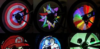 Bike Lights, Spoke Lights, RGB LED, Bicycle Lights, LED Spoke Lights, Night Riding, Pickled Nickel
