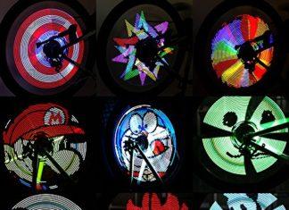 Bike Lights, Spoke Lights, RGB LED, Bicycle Lights, LED Spoke Lights, Night Riding, Pickled Nickel