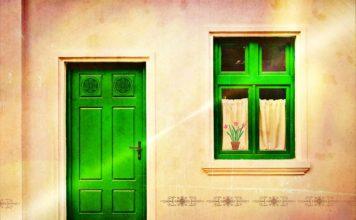 exterior door, house door, front door